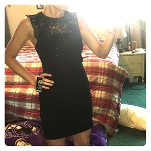 EXPRESS lace body-con dress